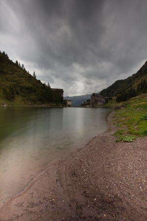ice dam: a view of Gleno dam,Italy