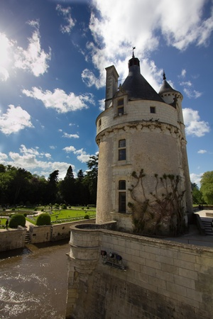 nobleman: a view of Chenonceau castle,France Editorial