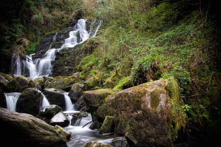 runnel: a detail of Torc waterfall,Killarney,Ireland