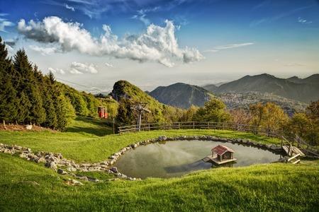 a view of a mountain lake