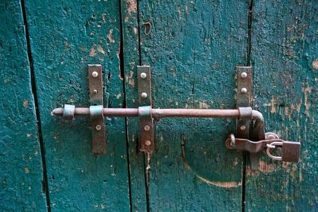 safeguards: a view of an old padlock