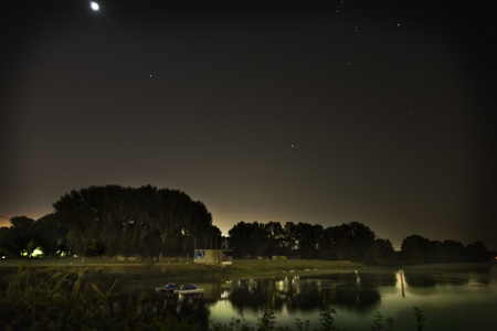 sears: a view of night lake Stock Photo
