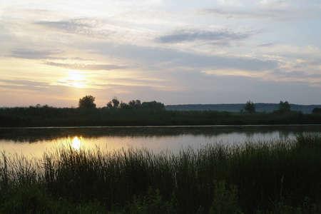 Visa på floden Erne tidigt på morgonen