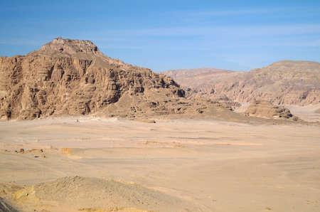 Type on desert and mountains,Egypt