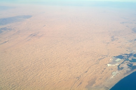 Aerial view desert ,Sinai  Aerial view desert ,Sinai