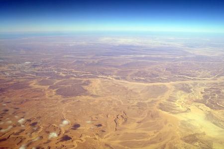 Aerial view desert ,Sinai