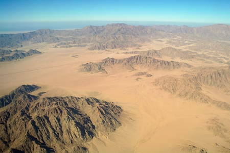 Aerial view desert and montain,Sinai photo