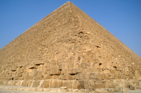 Famous ancient egypt pyramids in Giza Cairo photo