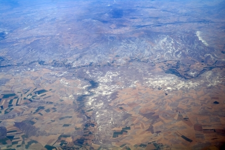 Aerial view mountains , Turkey photo