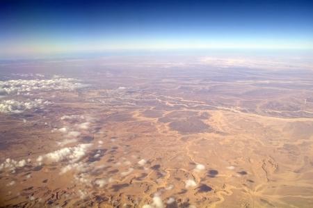 Aerial-view-desert