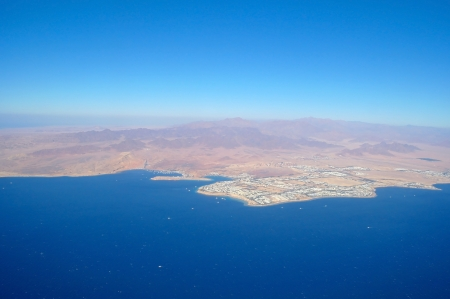 Aerial view city and sea ,Sharm el Shiekh