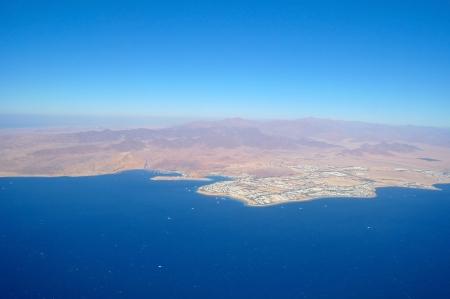 Aerial view city and sea ,Sharm el Shiekh