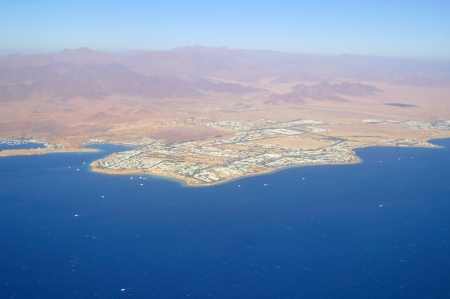 aerial view city: Aerial view city and sea ,Sharm el Shiekh