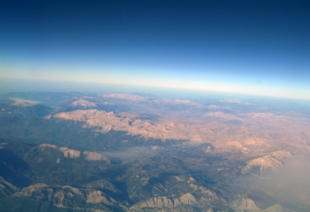 Aerial-view-mountainsTurkey  photo