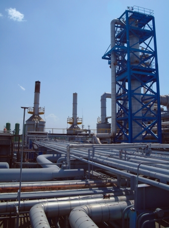 Chemical manufacturing plant construction  Chemical manufacturing plant construction  photo
