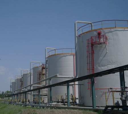 Big chemical tank petrol container oil industry photo