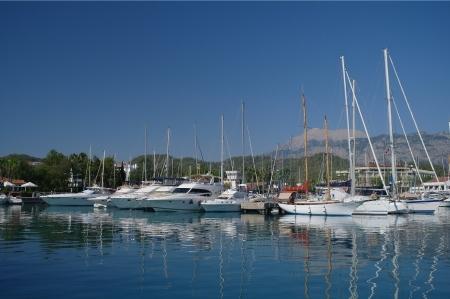 Vessels in harbor,TURKEY