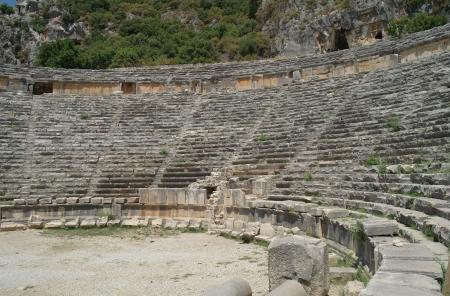 Ancient amphitheater in Myra, Turkey  Stock Photo