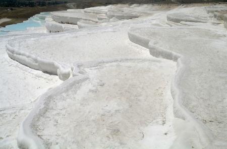 pamuk: Carbonate travertines terraces in Pamukkale, Turkey