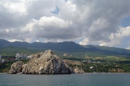 Crimea mountains and Black sea landscape