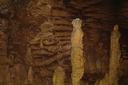 karst formations in the cave.?rimea,Ukraine. Stock Photo