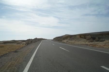 sinai desert: Road to Sinai desert
