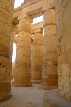 thebes: Great Hypostyle Hall at the Temples of Karnak (ancient Thebes). Luxor, Egypt