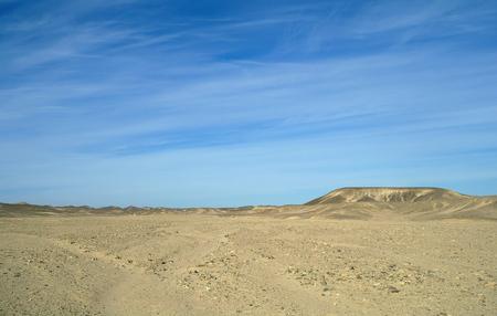 thar: Stone and sandy Egyptian desert. Stock Photo