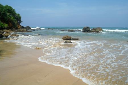 pristine corals: Tropical paradise idyllic coast. Stock Photo