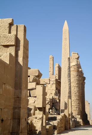 Ancient architecture of Karnak temple in Luxor, Egypt photo