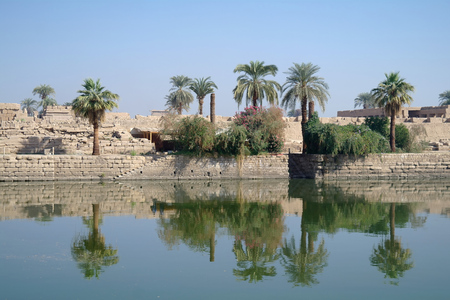 Sacred lake in Karnak Stock Photo