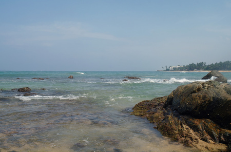 pristine coral reef: Laguna tropicale, sulla costa dell'Oceano Indiano