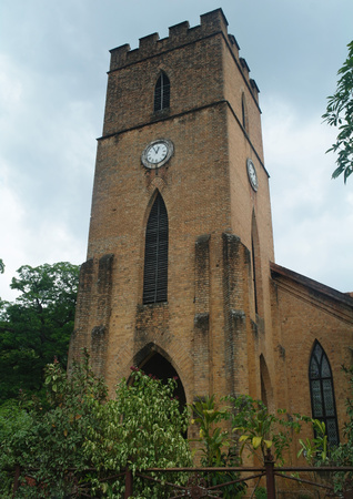 St. Pauls Church facade in Kandy, Sri Lanka Stock Photo