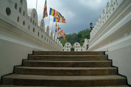 sri lanka temple: Temple of the Tooth, Kandy, Sri Lanka Stock Photo