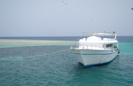 The yacht in the Red Sea. Egypt.