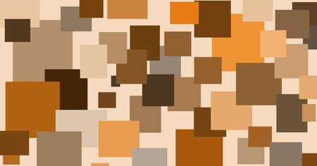 randomly: abstract illustration of randomly located rectangular shapes in different shades of brown.