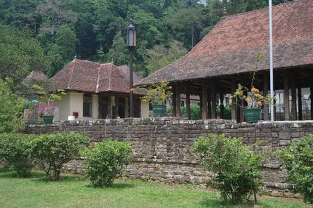 kandy: The unknown building in Kandy, Sri Lanka Stock Photo