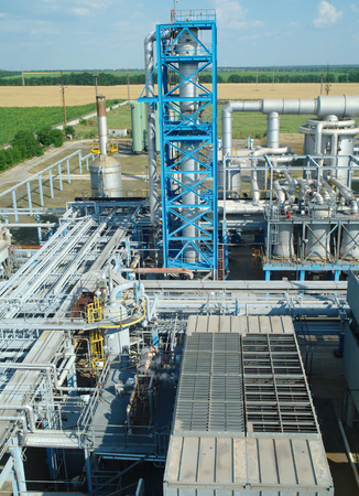 Chemical manufacturing plant construction.