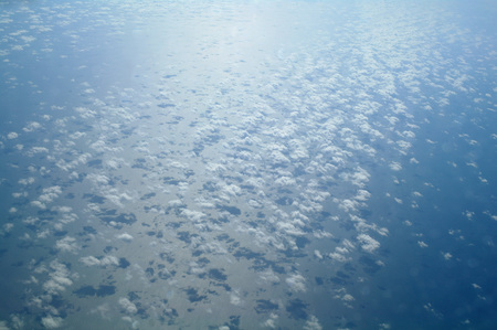 clouds seen from plane.