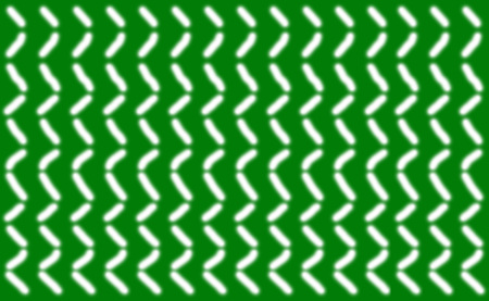 Abstract pattern of short smooth white lines symmetrically arranged on a green background, illustration.