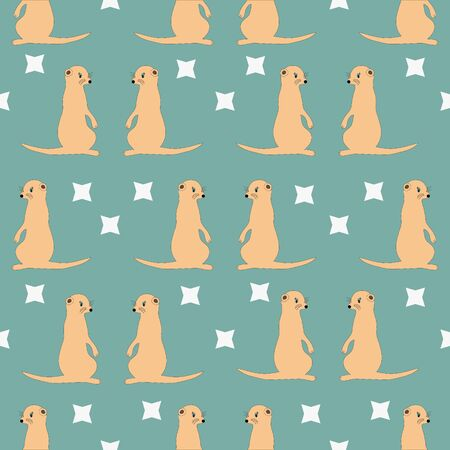 Seamless pattern with mongoose. Children print, textile design.