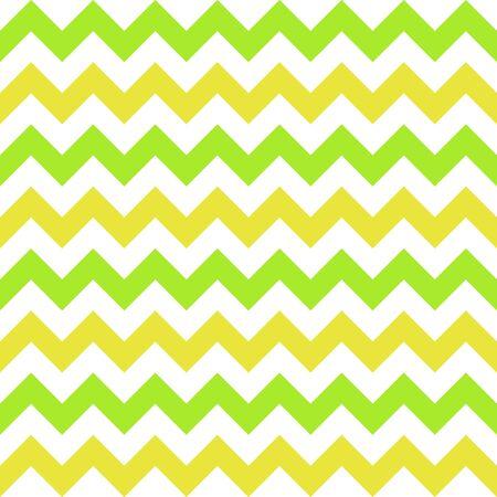 Seamless pattern with white, yellow and green zigzag. Vector illustration. Vektoros illusztráció