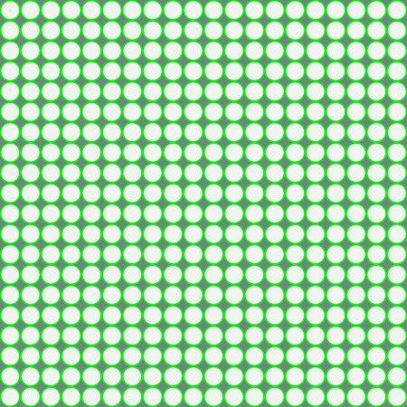 White and green circles seamless pattern on a gray background. Vector. Ilustración de vector