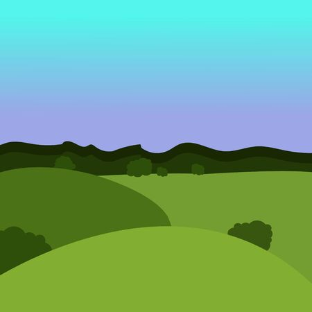 Forest landscape. Vector illustration in a flat style.
