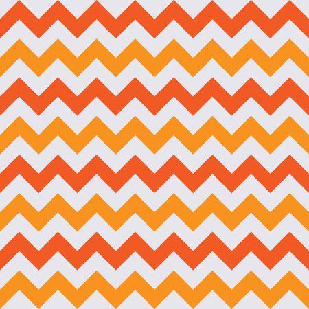 Abstract white orange geometric zigzag texture. Vector illustration.
