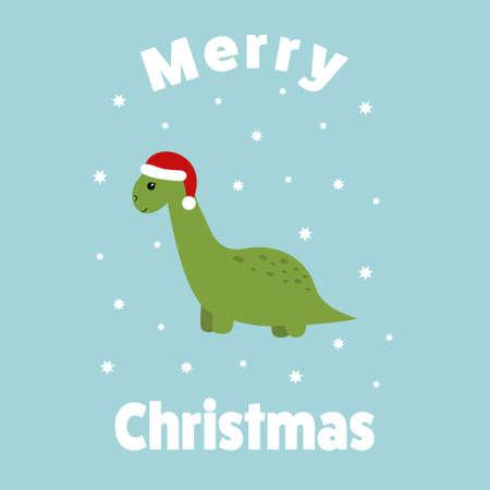 Cute   dinosaur. Vector illustration for kids.