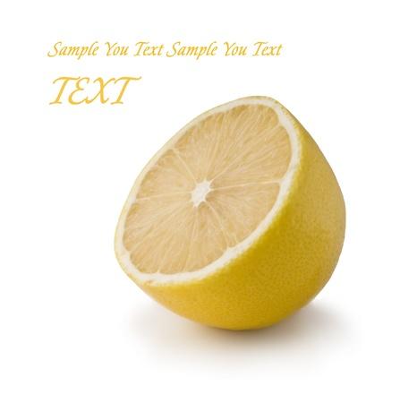 Lemon isolated on white background photo