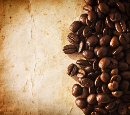Coffee grunge background photo