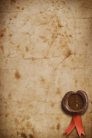 credence: old paper with a wax seal