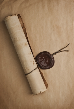 old paper with a wax seal Stock Photo - 15000523